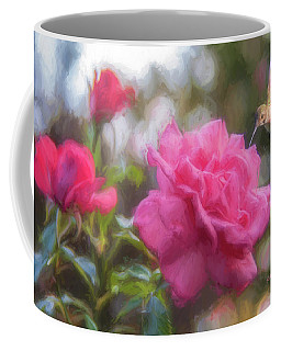 Hummer In The Garden Coffee Mug