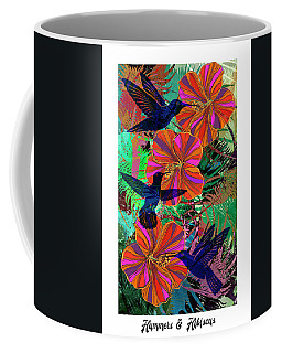 Hummers And Hibiscus 24x16 Coffee Mug