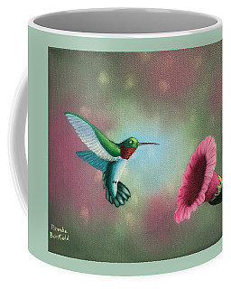Humming Bird Feeding Coffee Mug