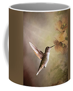 Humming Bird In Light Coffee Mug