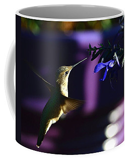 Hummingbird And Blue Flower Coffee Mug