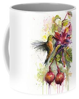 Hummingbird And Fuchsia Coffee Mug