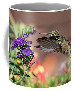 Hummingbird And Purple Flower Coffee Mug