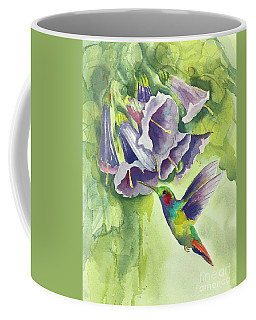 Hummingbird And Trumpets Coffee Mug