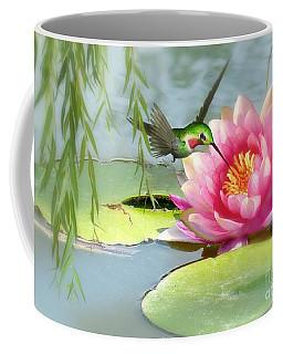 Hummingbird And Water Lily Coffee Mug