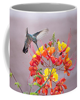 Coffee Mug featuring the photograph Hummingbird At Work by Dan McManus