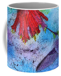 Hummingbird Batik Watercolor Coffee Mug