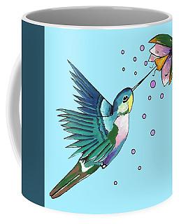 Hummingbird Blue Coffee Mug