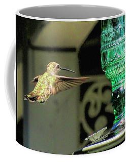Hummingbird Coming In Coffee Mug