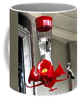 Hummingbird Feeding Coffee Mug by Sadie Reneau
