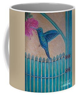 Hummingbird Garden Gate Revised Coffee Mug