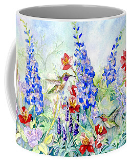 Hummingbird Garden In Spring Coffee Mug