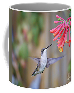Hummingbird Happiness 2 Coffee Mug by Kerri Farley