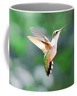 Coffee Mug featuring the photograph Hummingbird Hovering by Meta Gatschenberger