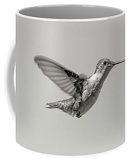 Hummingbird In Black And White Coffee Mug