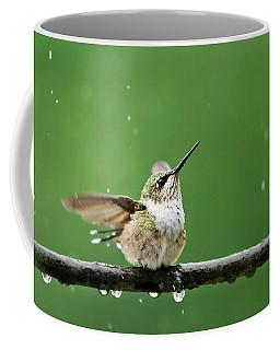 Hummingbird In The Rain Coffee Mug