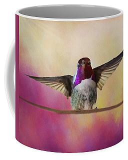 Hummingbird On A Wire Coffee Mug