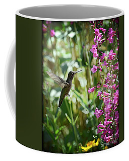 Hummingbird On Perry's Penstemon Coffee Mug