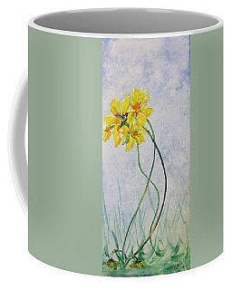 Hummingbird On Yellow Flower Coffee Mug