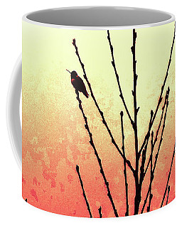 Hummingbird Peach Tree Coffee Mug