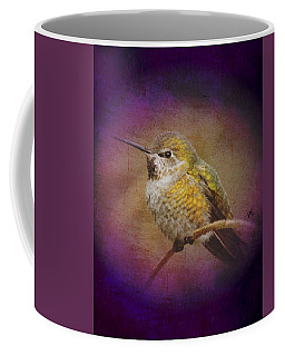 Coffee Mug featuring the digital art Hummingbird Rufous by John Wills