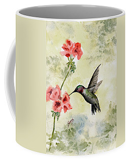 Coffee Mug featuring the painting Hummingbird by Sam Sidders
