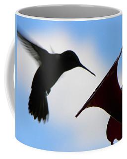 Coffee Mug featuring the photograph Hummingbird Silhouette by Sandi OReilly