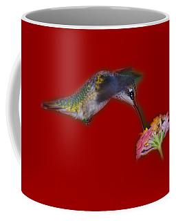 Coffee Mug featuring the photograph Hummingbird Tee-shirt by Donna Brown