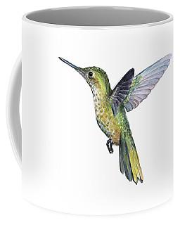 Hummingbird Watercolor Illustration Coffee Mug