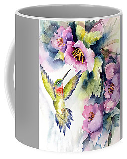 Hummingbird With Pink Flowers Coffee Mug