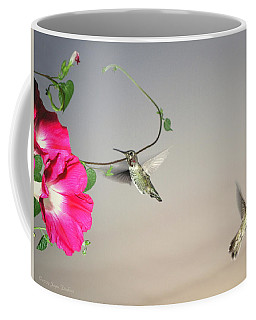 Coffee Mug featuring the photograph Hummingbirds Coming And Going by Joyce Dickens