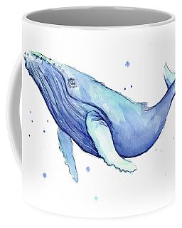 Humpback Whale Watercolor Coffee Mug