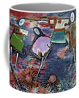 Coffee Mug featuring the digital art Hung Out To Dry by Delight Worthyn