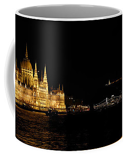Hungarian Parliament And Chain Bridge Coffee Mug