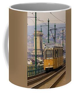 Hungarian Tram Coffee Mug by David Warrington