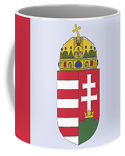 Coffee Mug featuring the drawing Hungary Coat Of Arms by Movie Poster Prints