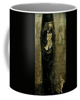 Coffee Mug featuring the digital art Hungry Man by Delight Worthyn