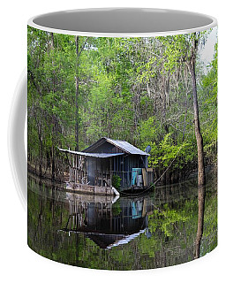 Hunting And Fishing Cabin Coffee Mug