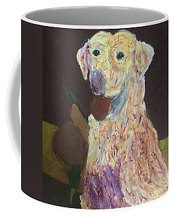 Coffee Mug featuring the painting Hunting Dog by Donald J Ryker III