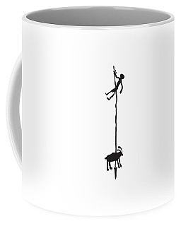 Hunting Petroglyph Coffee Mug