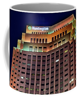 Coffee Mug featuring the photograph Huntington Bank Cleveland by Frozen in Time Fine Art Photography