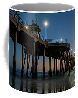 Huntington Beach Pier At Dusk Coffee Mug