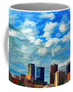 Huntsville Alabama Skyline Abstract Art Coffee Mug