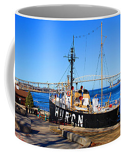 Coffee Mug featuring the photograph Huron Lightship Museum by Michael Rucker