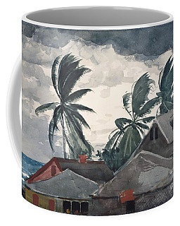 Coffee Mug featuring the painting Hurricane In Bahamas by Winslow Homer