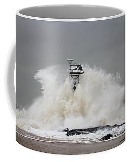 Hurricane Jose Wave At The Inlet Jetty Coffee Mug