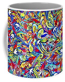 Hurricane Of Doves And Hearts Coffee Mug