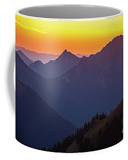 Hurricane Ridge Sunset Layers Coffee Mug