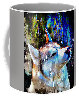 Husky Enjoying The Snow Coffee Mug