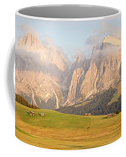 Huts On The Alpe Di Siusi Coffee Mug
